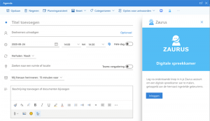 Zaurus add-in Outlook