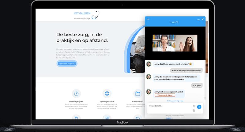 digitaal inloopspreekuur live chat met beeldbellen