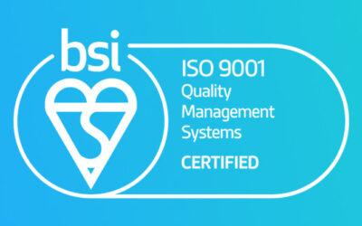 Zaurus gecertificeerd voor de ISO 9001 kwaliteitsnorm